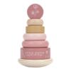 Little Dutch - Montessori toronyépítő - pink