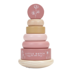 Little Dutch – Montessori toronyépítő – pink