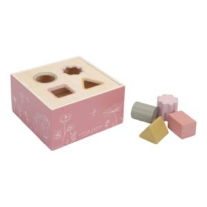 Little Dutch – Fa formabedobó kocka – rózsaszín