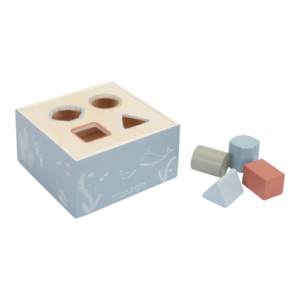 Little Dutch – Fa formabedobó kocka – kék