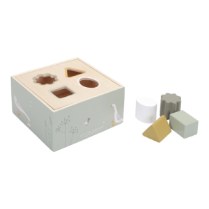 Little Dutch – olívazöld fa formabedobó kocka