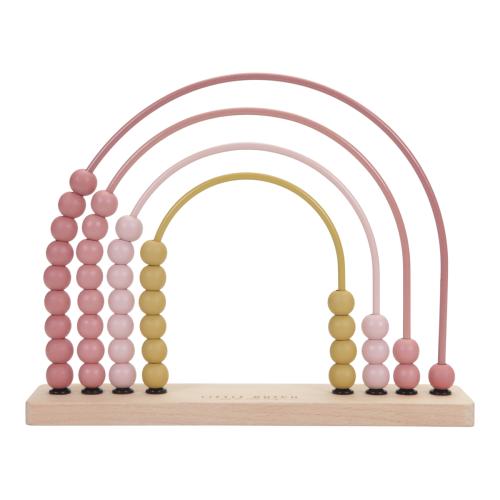 Little Dutch - Abacus szivárvány - rózsaszín