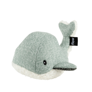 MOBY babanyugtató plüss bálna – zöld