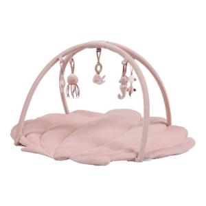 Little Dutch – játszószőnyeg játékhíddal – tengeri állatos – pink