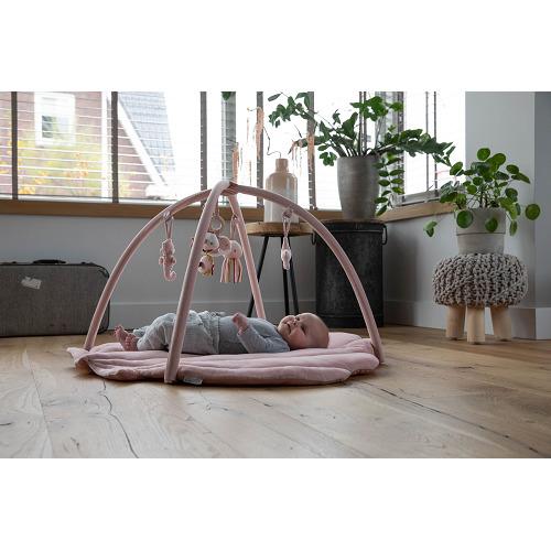 Little Dutch - játszószőnyeg játékhíddal - tengeri állatos - pink