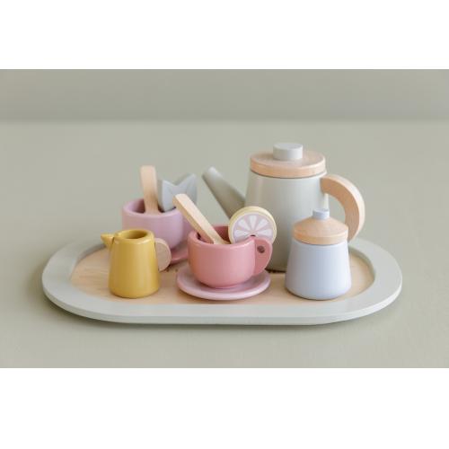 Little Dutch - Fa teáskészlet - modern