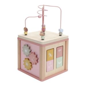 Little Dutch – Készségfejlesztő kocka fából – pink