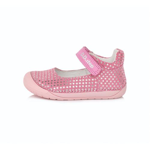 D.D. Step - Nyitott gyerekcipő - zárt szandál - Rózsaszín, ezüst csillagos