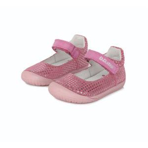 D.D. Step – Nyitott gyerekcipő – zárt szandál – Rózsaszín, ezüst csillagos