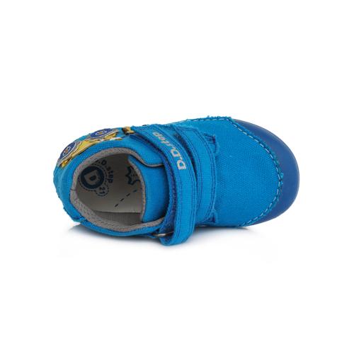 D.D.Step - Gyerekcipő - Zárt vászon félcipő - kék, traktoros