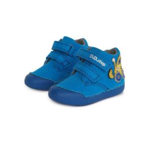 D.D.Step – Gyerekcipő – Zárt vászon félcipő – kék, traktoros