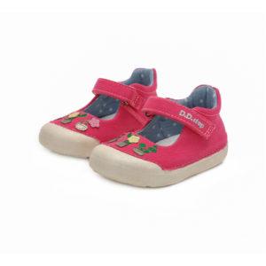 D.D.Step – Gyerekcipő – Zárt vászon szandál – rózsaszín, virágos