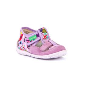 FRODDO – nyitott gyerekcipő – zárt szandál –  rózsaszín virágos