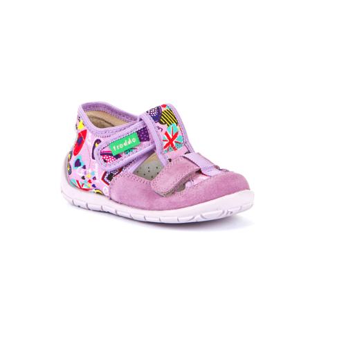 FRODDO - nyitott gyerekcipő - zárt szandál - rózsaszín virágos