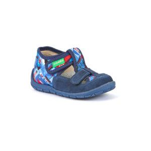 FRODDO – nyitott gyerekcipő – zárt szandál –  kék mintás