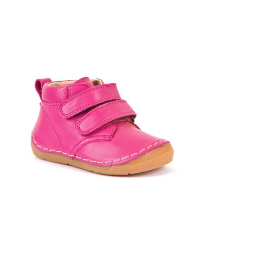 FRODDO – Átmeneti, magasszárú, bőr gyerekcipő – sötét rózsaszín