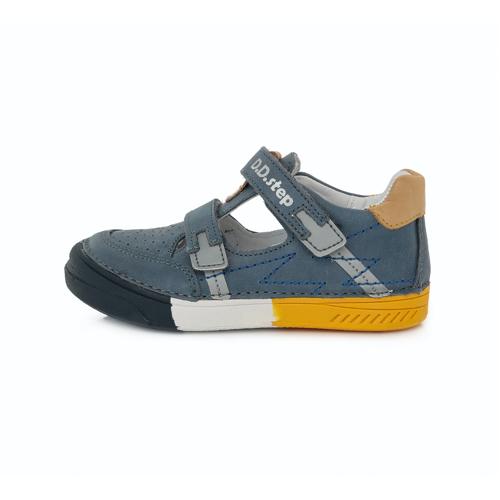 D.D. Step - Nyitott gyerekcipő - zárt szandál - acélkék, mustár, fehér, fényvisszaverő