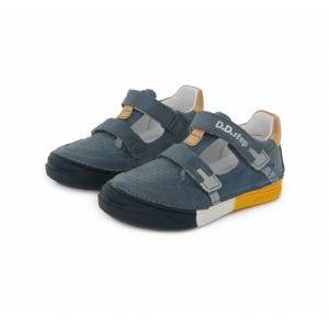 D.D. Step – Nyitott gyerekcipő – zárt szandál – acélkék, mustár, fehér, fényvisszaverő