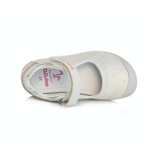 D.D. Step - Nyitott gyerekcipő - zárt szandál - fehér gyöngyház