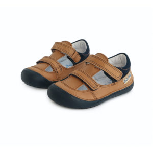 D.D. Step – Nyitott gyerekcipő – zárt szandál – barna, sötétkék