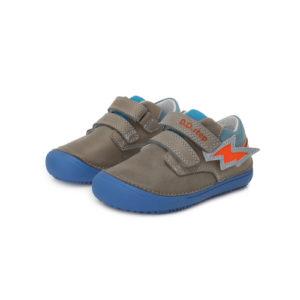 D.D.Step – Átmeneti gyerekcipő – zárt félcipő – szürke, kék villámmal