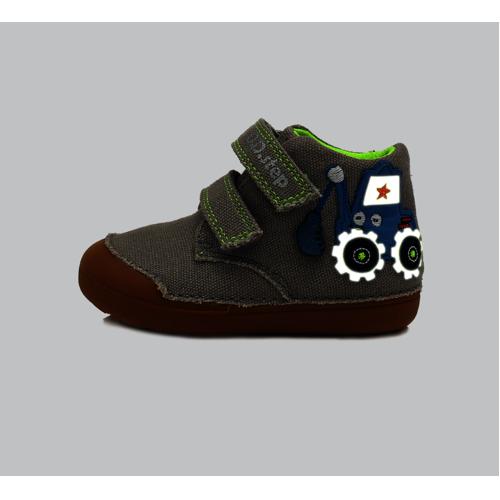 D.D.Step - Gyerekcipő - Zárt vászon félcipő - szürke, traktoros