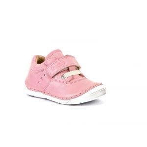 FRODDO – Átmeneti, bőr gyerekcipő, fűzős és tépőzáras – rózsaszín