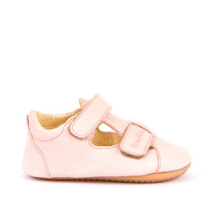 FRODDO – Puhatalpú, bőr gyerekcipő az első lépésekhez – rózsaszín