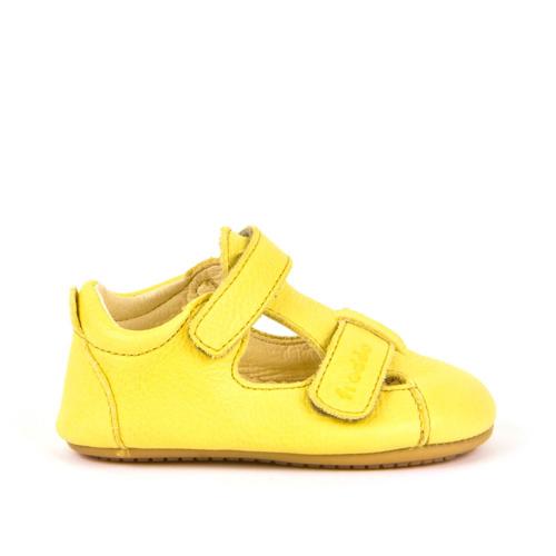 FRODDO - Puhatalpú bőr gyerekcipő az első lépésekhez - sárga