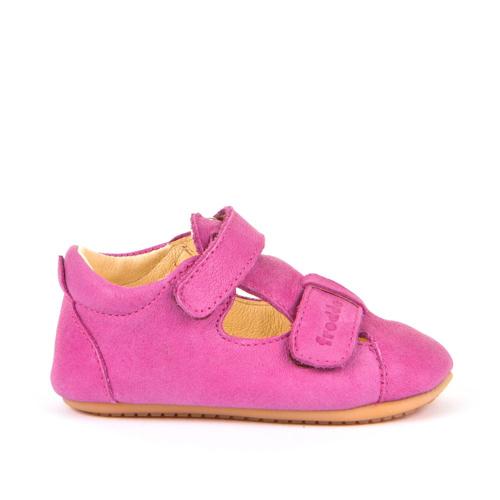 FRODDO - Puhatalpú bőr gyerekcipő az első lépésekhez - sötét rózsaszín