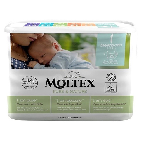 Moltex - Öko pelenka 1 (újszülött) - 22 db