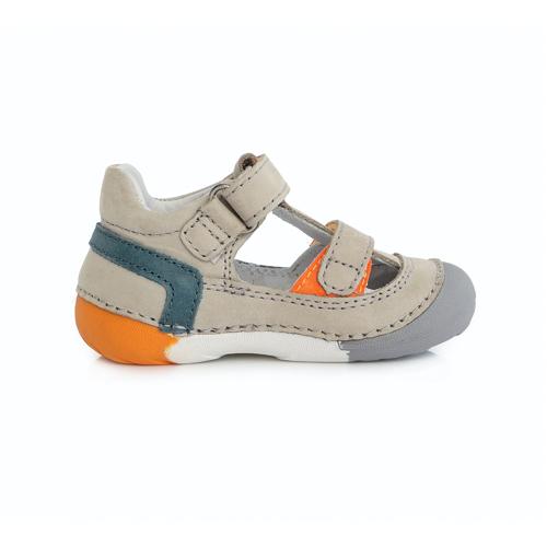 D.D. Step - Nyitott gyerekcipő - zárt szandál - vajszínű narancs és kék színnel