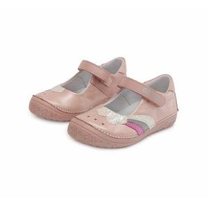 D.D.Step – Nyitott kislány cipő – Zárt szandál – rózsaszín, gyöngyház fénnyel