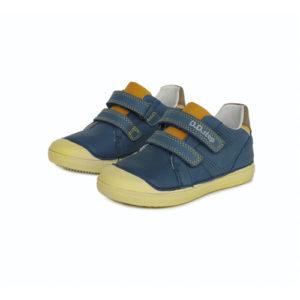 D.D.Step – Átmeneti gyerekcipő – bőr félcipő – kék, sárga talppal