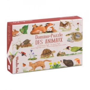 Moulin Roty – Domino puzzle – Képkirakó játék – Állatok