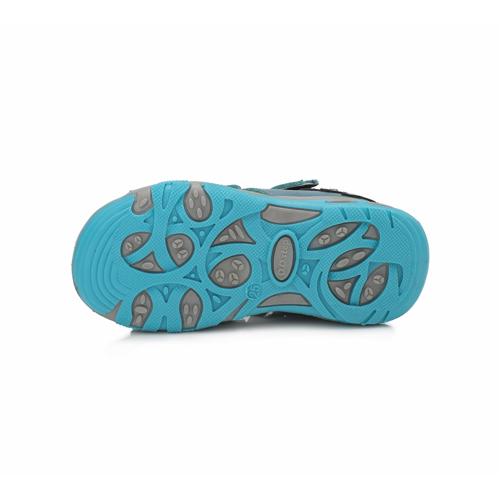 D.D. Step - Nyitott gyerekcipő - bőr szandál - kék, narancssárga, dínós