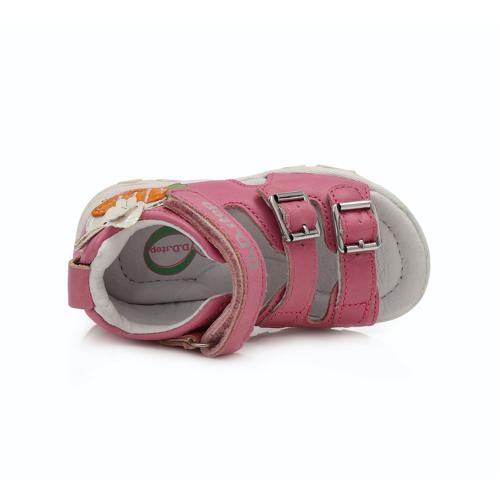 D.D. Step - Nyitott gyerekcipő - bőr szandál - Rózsaszín, nyuszis
