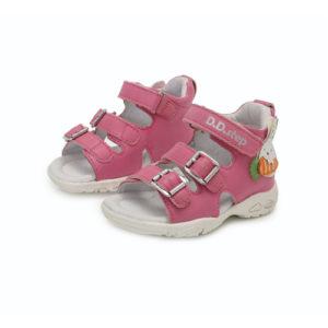 D.D. Step – Nyitott gyerekcipő – bőr szandál – Rózsaszín, nyuszis