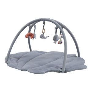 Little Dutch – játszószőnyeg játékhíddal – tengeri állatos – kék