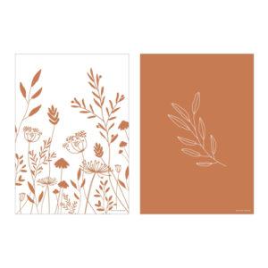 Little Dutch – A3 poszter – Vad virágok rozsdabarna