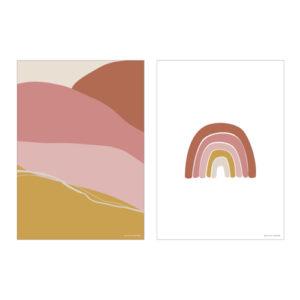 Little Dutch – A3 poszter – Pink szivárvány