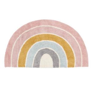 Little Dutch – Pink szivárványos gyerekszőnyeg – 130 x 80 cm