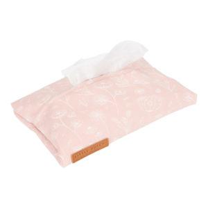 Little Dutch – Nedves törlőkendő tartó – pink, vad virágok