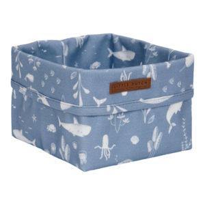 Little Dutch – Tároló doboz – kék, óceán (15 x 15 cm)