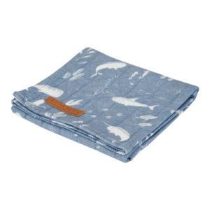 Little Dutch – Textilpelenka 120 cm – Kék, óceán