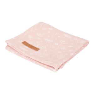 Little Dutch – Textilpelenka 120 cm – Pink, vad virágok
