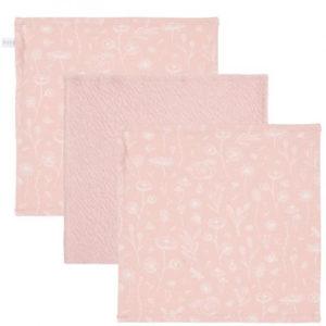 Little Dutch – Arctörlő kendő 25×25 cm – pink, vad virágok (3 db)