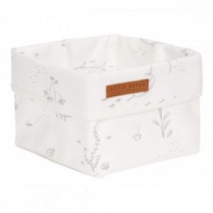 Little Dutch – Tároló doboz – fehér, óceán (15 x 15 cm)