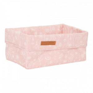 Little Dutch – Tároló doboz – pink, vad virágok (25 x 15 cm)