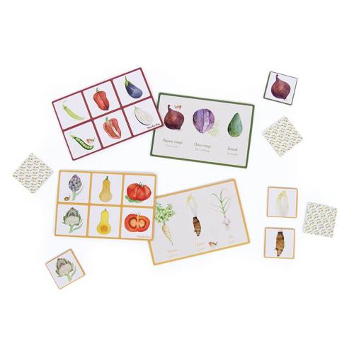 Moulin Roty - Képes lottó - Memória játék - Zöldségek